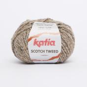 Katia Scotch Tweed Aran colour 62 Beige 60% Wool 20% Viscose 20% Polyamide 50g ball, 95 metres on using 4.5 - 5mm Needles or 5mm crochet hook