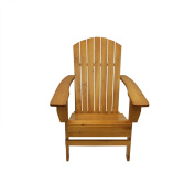 90cm Natural Wood Outdoor Patio Adirondack Chair