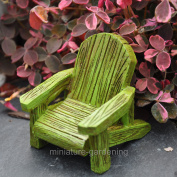 Midwest Design Imports, Inc Garden Green Adirondack Chair for Miniature Garden, Fairy Garden