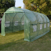 6.1mX3mX2.1m Walk-In Greenhouse Outdoor Plant Gardening Greenhouse