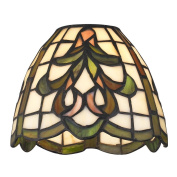 Dome Tiffany Glass Shade - 2.5cm - 1.6cm fitter