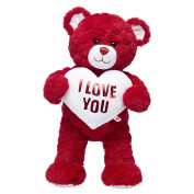 Build-a-Bear Workshop Valentine's Day Red Hearts Teddy Bear Gift Set
