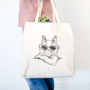 Ginger the Maine coon Cat Heavy Duty 100% Cotton Canvas Tote Shopping Reusable Grocery Bag 14.75 x 14.75 x 5