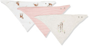 Mamas and Papas Baby Girls' Pack of 3 Deer Bandana Bibs Neckerchief, Pink, One Size (Manufacturer Size