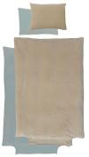 Parure Housse de duvet cover 100x140 cm + 40 x 60 cm – 100% Cotton Velour – various colours available
