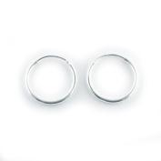 Sterling Silver Hoop Earrings 20mm Qty 2