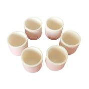Yiwa White Cylindrical Shape Corundum Crucible High Purity Alumina Ceramic Crucible for Chemical Experiment