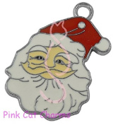 5 x FATHER CHRISTMAS SANTA HEAD Tibetan Silver & Enamel Charms Pendants