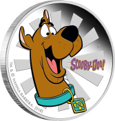 SCOOBY DOO Dog Cartoon 30ml Silver Coin 1$ Tuvalu 2018