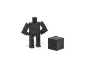 Areaware DWC4BK Micro Cubebot Wooden Toy - Black