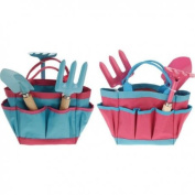 Set of Childrens Garden Tools Includes Bag With Pockets and Garden Tools in 2 colours