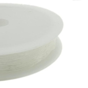 Wadoy 1 x roll of Translucent Cystal Elastic Stretchy Beading Cord/String/Thread 1mm thickness