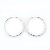 Sterling Silver Hoop Earrings 30mm Qty 2