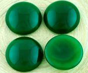 2pcs Opal Green Round Domed Flatback Czech Glass Cabochons 20mm