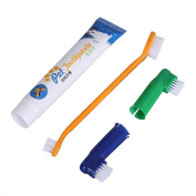 Patgoal Pet Dual-headed Brushes Dog Puppy Toothbrush and Toothpaste with 2 Brush Head