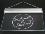 Multi Colour i079-c Cocktails & Dream Beer Bar Wine Neon LED Sign with Remote Control, 20 Colours, 19 Dynamic Modes, Speed & Brightness Adjustable, Demo Mode, Auto Save Function