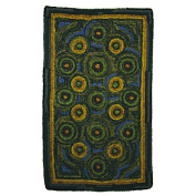 Homespice Decor Hand-Crafted Braided Green / Yellow Indoor/Outdoor Area Rug