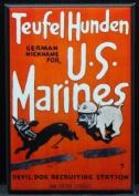 USMC WWII Recruitment Poster Refrigerator Magnet. Devil Dog Recruiting Station