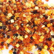 Polished Muliticolour Baltic Amber Square shape Beads with holes. 10 grammes (approx 70 beads), jewellery making