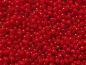100pcs Czech Pressed Glass Beads Round 3mm, Medium Red Opal