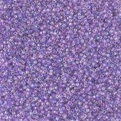 Toho 15/0 Seed Beads Transparent Rainbow Foxglove 8.2g