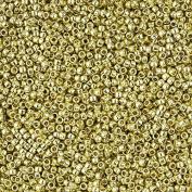 Toho 11/0 Beads PermaFinish Galvanised Yellow Gold 8.2g