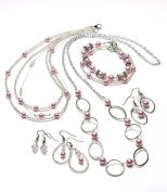 Cousin 65025014 Pearl Seed Bead Jewellery Kit, Pink