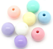The Bead and Button Box - 250 Acrylic Pastel Coloured Beads 6mm. Great for jewellery making, decoration, beading, and other crafts.