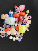 The Bead and Button Box - 50 grammes of Acrylic beads. Assorted Colours and Sizes. Great for jewellery making, card making, decoration, embellishments and other craft projects