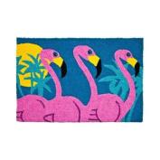 Hot Bright Pink Tropical Flamingos 80cm X 50cm Accent Area Rug