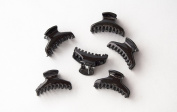 Pack of 12 Clamps Small Black 3 cm. . 72H