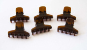 Pack of 6 Clips Small 3 cm Colour Tortoise. . 72H