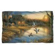 Wild Wings Ducks On The Lake Fleece Blanket