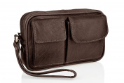 Wrist Bag. Mens Wristlet Bags. Travel Pouch. Travel Bag For Men. Wristlet Bag. Travel Bags. Wrist Bag Strap. Leather Bag With Strap. Leather Travel Bag. Document Holder. Travel Document Bag.
