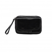 Made In Italy Genuine Leather Clutch For Men Colour Black Tuscan Leather - Man Bag
