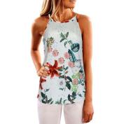 Xinantime Tops, Women Summer Floral Vest Sleeveless Shirt Blouse Tank Tops