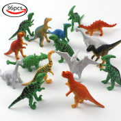 LoveS 36pcs Assorted Mini Simulation Dinosaur Toy Set for Kids Learning or Party Favour