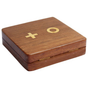 ITOS365 Wooden Tic Tac Toe/ Noughts and Crosses Game Unique Handmade Quality Wood Family Board Games