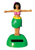 Solar Dancing Hula Girl - Solar Powered Toy, Motion Dancer Doll for Car Dashboard or Windowsill