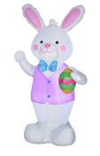 Easter Bunny Holding Easter Egg Airblown Inflatable Easter Rabbit
