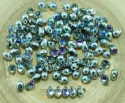 40pcs Crystal Silver Rainbow Czech Glass Small Teardrop Beads 4mm x 6mm