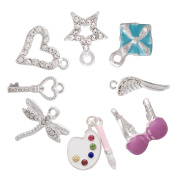 Pearlfection Sterling Silver Plated Charms for Jewellery Making