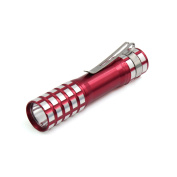 Outdoor Home Water Proof Battery Powered White Light 1 LED Torch Flashlight Red
