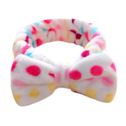 Women Girl Soft Hairband For Bath Hair Band ,Beauty Top Fashion Sweet Lovely Coral Fleece Bow Knot Bowknot Hairband hairband for washing face Headband Makeup Cosmetic Hair Band Washing Elastic Bow Towel