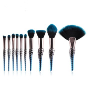 New Arrival Makeup Brush Set, DELOITO 10Pcs/8Pcs Professional Cosmetic Brushes Conch Blue Black Gradient Eyeliner Eyeshadow Blending Brush Makeup Tools