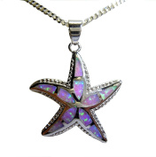 Silver Opal Starfish Necklace Sara – Exclusive Summer Jewellery Opal Chain Necklace