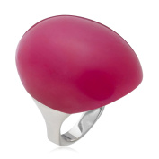 Lola Rose Smooth Oval cabachon Ring in Purple jade