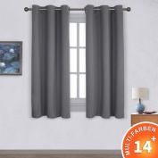Ponydance Insulating Blackout Curtain with Eyelets Light, 106 cm width., grey, 106cm×158cm