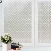 Bodhi2000® Window Film Privacy Frosted Static Cling Glass Film Sticker for Bathroom Living Room Bedroom