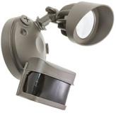 American Lighting - LED Panorama Sentry Security Flood Light with PIR Motion Single Head Bronze - AL-1PIR-DB